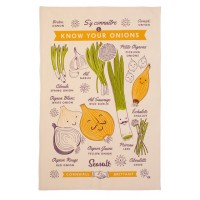 Know Your Onions Tea Towel by Seasalt