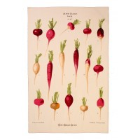 RHS Radishes Cotton Tea Towel