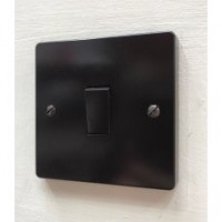'Bakelite' Rocker Switch - 2 Way - Single - Brown