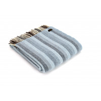 Stripes Throw - Pure New Wool – Blue/Grey