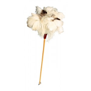 Luxury Feather Duster - Unique white/light Ostrich Feathers - 80cm