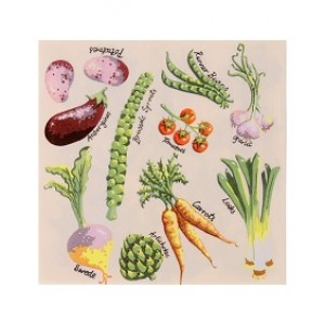 Paper Napkins - Fresh Vegetables - Pk20