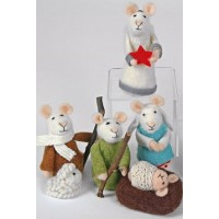 Felted Mice Nativity Set. – 6 Piece