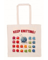 Cotton Bag - Keep Knitting