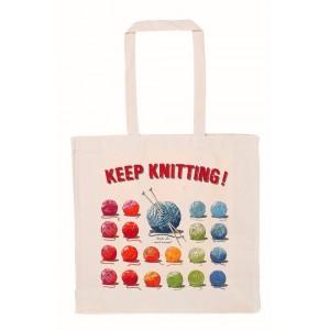 Cotton Bag - Keep Knitting