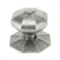 Pewter - Octagonal Centre Door Knob/Pull - Anvil 83778