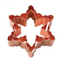 Snowflake Vintage Design Copper Cookie Cutter Set/2