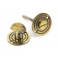 Round Bathroom Thumbturn - Aged Brass
