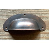 Drawer Pull - Pressed - Antique Copper- 96mm