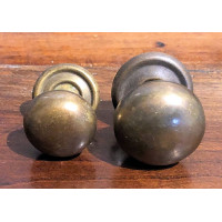 Antique Brass Victorian Cupboard knob - 32mm - Face Fix