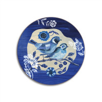 Blue Story – A Pair of Stonechats Coaster