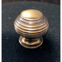 Beehive Cupboard Knob - Aged Brass - Small