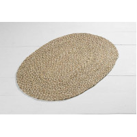 Braided Jute Oval Rug - Natural - 60 x90 cms