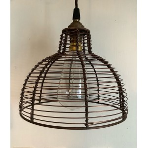 "Wire ""Bell Cage"" Shade - Antique Copper - 200mm Diameter"