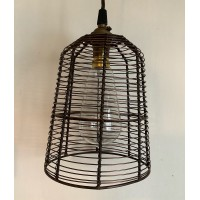 "Wire ""Birdcage"" Shade - Antique Copper - 155mm Diameter"