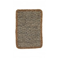 Black & White Jute Doormat with Natural Jute Edging