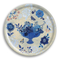 Blue Story – Small Round Birch Tray - 38cms Diameter