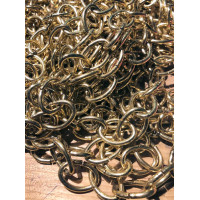 Oval Chain - Brass - Small Link - 1 Metre