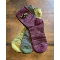 "SIXTON LONDON - Leaves Sock & ""Bumble Bee"" Pin Gift Set - Womens"