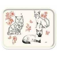 Cats Tray by Nathalie Lété.- Rectangular