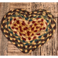 Braided Heart Coaster - Carnival