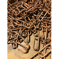 Long Oval Chain – Copper Plate on Brass - 45cm