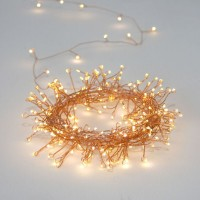 Copper Cluster - 3.2m - 80 LED Battery Operated Light Chain – Indoor & Outdoor Use