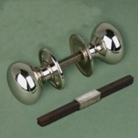 Cottage Door Knob - Nickel - Large - Mortice & Rim
