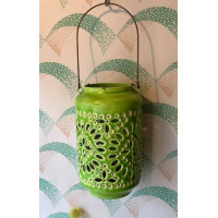 Moroccan Cut-Out Lantern - Citrus