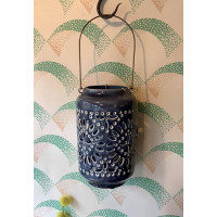 Moroccan Cut-Out Lantern - Tourmaline