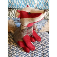 Animal Doorstop - Patchwork Badger