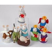 Felted Mice Nativity Set - 9 Piece