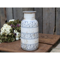 Ceramic Vase – French Pattern – Antique Finish – Large