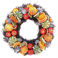 Winter Fruit Twig Wreath – Diameter 25cms