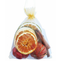 Gold Organza Fruit Bag