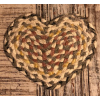 Braided Heart Coaster - Granite