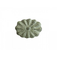 Iron - Flower Pattern -  Cupboard Knob – Green Finish
