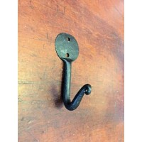 Penny End Single Hook - Hand Forged - 70mm