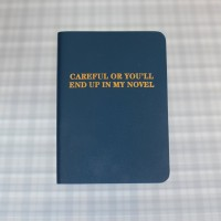 Journal - CAREFUL OR YOU'LL END UP IN MY NOVEL - Blue