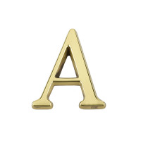 Pin Fix Letters – 50mm - Polished Brass