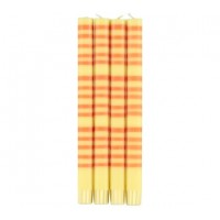 Classic Striped Dinner Candles - Jasmine & Marigold - Set/4