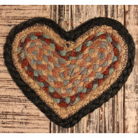 Braided Heart Coaster - Kashmir