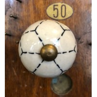 Kayba Ceramic Cupboard Knob - Flower