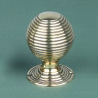 Large Beehive Door Knobs - Brass