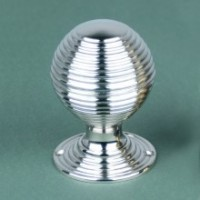 Large beehive Door Knobs - Nickel
