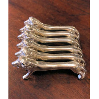 Vintage French Knife Rests - Lion Set/6 - 'Porte Couteau'