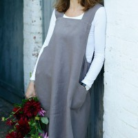 Cross Back Linen Aprons