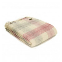 Meadow Check - Pure New Wool - Slate, Dusky Pink or Ink