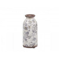 Ceramic Bottle Vase – French Pattern – Antique Finish – Small