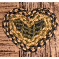 Braided Heart Coaster - Mint